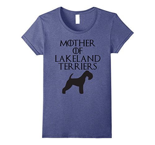Womens Mother of Lakeland Terriers | Dog Mom Gift Shirt E010684 Medium Heather Blue
