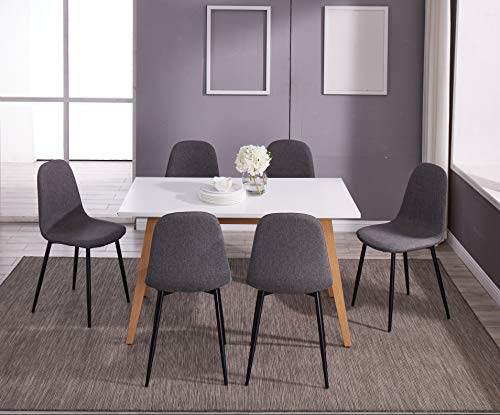 IDS Home Dining Table White Table Natural Solid Wood Legs Design for Living Room, Home Office