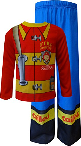Caillou Little Boys' Long Sleeve Jersey Set, Red, 3T