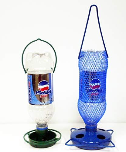 Gadjit Soda Bottle Bird Feeding Starter Kit Includes 1 Soda Bottle Hanging Feeder and 1 Watering Well. Just Add 2 Empty Soda Bottles, Birdseed, Water, Promote Plastic Bottle Re-use Spring Bird Feeding (Plastic Bottle Bird Feeder)