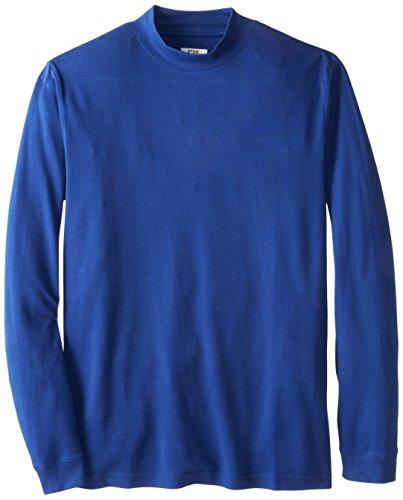 Cutter & Buck Men's Big and Tall Brokers Bay Mock Shirt, Ballpoint, 1XL (Cutter & Buck Mock Turtleneck)