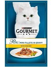 6X Gourmet Perle Mini Fillets Chicken in Gravy 85g
