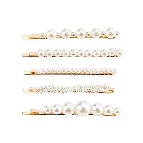 Clearance Sale!DEESEE(TM)Hair Barrettes Hair Pins Decorative Wedding Bridal Artificial Pearl Hairpins