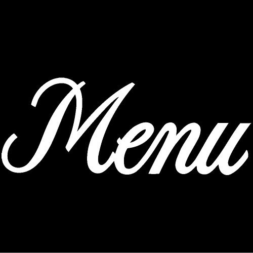 Menu Decal Sticker  White     Peel And Stick Graphic Sticker   Decorative Bumper Window Laptop Notebook Sticker