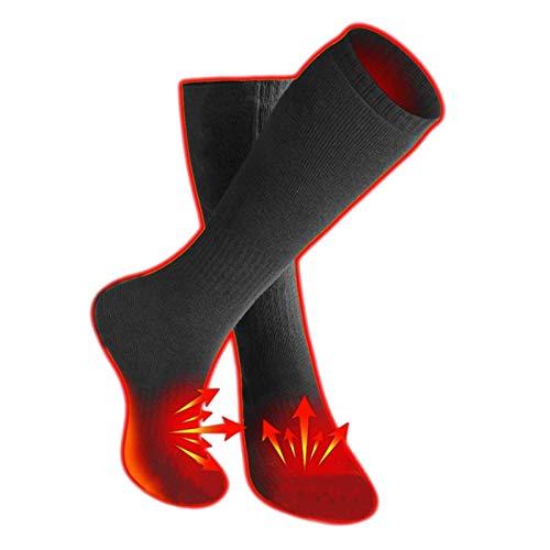ZYZY Verwarmde sokken, verwarmde sokken, ademend, comfortabele elektrische voetbeschermer, winterwarme katoenen sokken…
