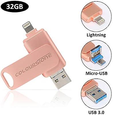 USB 3.0 Pen Drive 32 GB, Penobon 3 en 1 Memoria Flash USB Lápiz ...