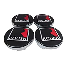 Gosweet Set of 4 Replacement Diameter 54 mm Fit For Focus Fusion Mustang Roush SVT Shelby Cobra Center Hub Caps