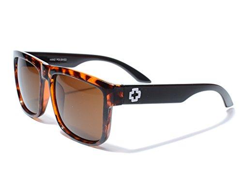 Designer vintage retro oversized men women wayfarer sunglasses mirrored glasses - Leopard Men Sunglasses