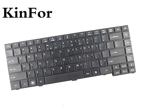 (New Keyboard for Acer TravelMate P243-M P243-MG Black US + Clear Protector Cover)
