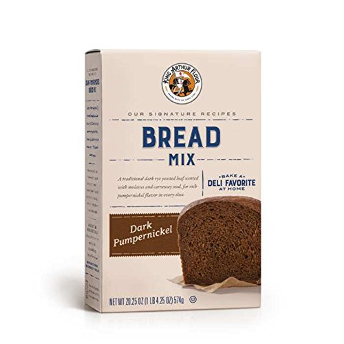 King Arthur Flour Dark Pumpernickel Yeast Bread Mix 20.25 OZ (574g), Bread Mix for Bread Machines or Oven Baked Bread