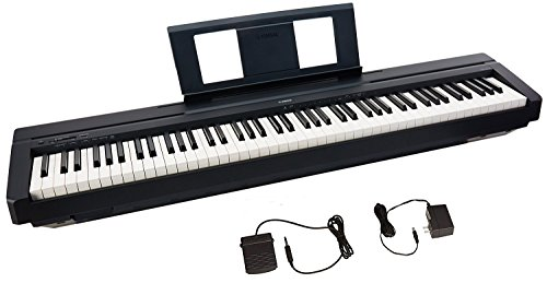 Yamaha P45 88-Key Weighted Action Digital Piano with Sustain Pedal and Power Supply, Standard, Black from Yamaha
