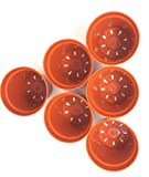 Chachlili 432 Pack Plastic Nursery Plant Pots(4'') Seedling Flower Starting Containers Burnt Orange with Drain Holes Wholesale Bulk LOT
