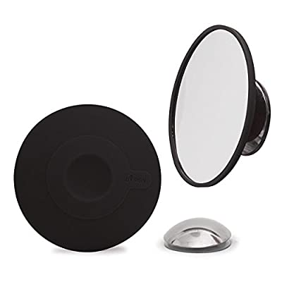Bosign Cosmetic Mirror 10 x Magnification with Magnetic Extension Bar, Black