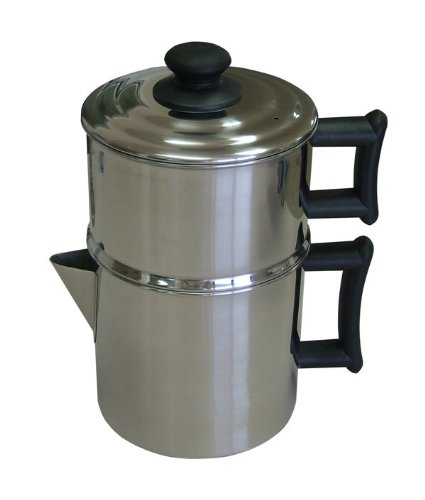 Lindys Stainless Steel Drip Coffee Maker With Protective Plastic Handles
