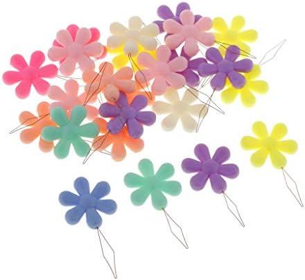 24本セット スレダー 糸通し 花の形 カラフル クロスステッチ 刺繍用