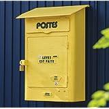 ウォールポスト POSTES SI-2889 イエロー 壁掛け 郵便ポスト メールボックス アンティーク レトロ 南京錠