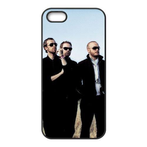 Coldplay 001 3 coque iPhone 5 5S cellulaire cas coque de téléphone cas téléphone cellulaire noir couvercle EOKXLLNCD22920