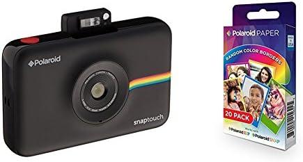 Polaroid SNAP Touch - Cámara digital con impresión instantánea y pantalla LCD (negro) con tecnología Zero Zink + Polaroid Paper: Amazon.es: Electrónica