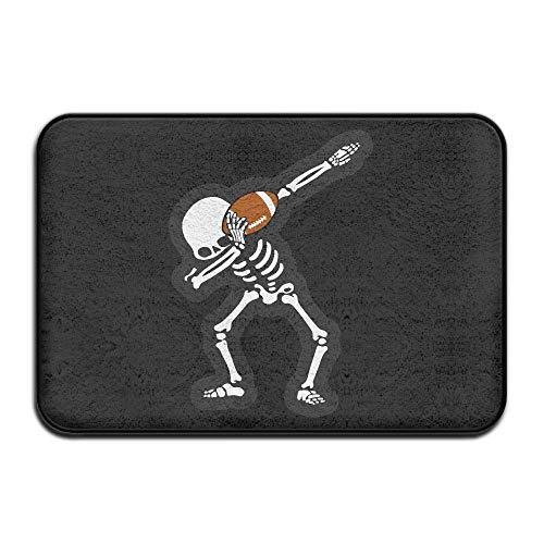 Halloween Dabbing Skeleton Football Non-Slip Indoor/Outdoor Door Mat Rug for Health and Wellness Offices Entrance Rug 23.6