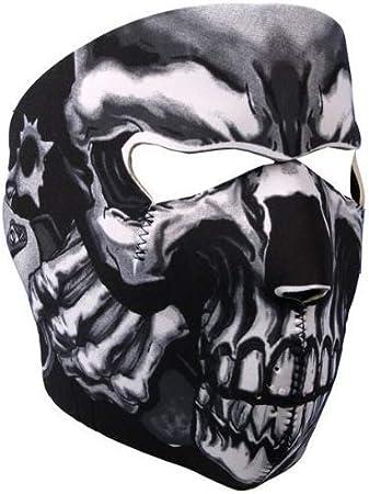 Toxic Fang Face Skull Neoprene Full Face Mask Biker Ski Motorcycle Costume ATV