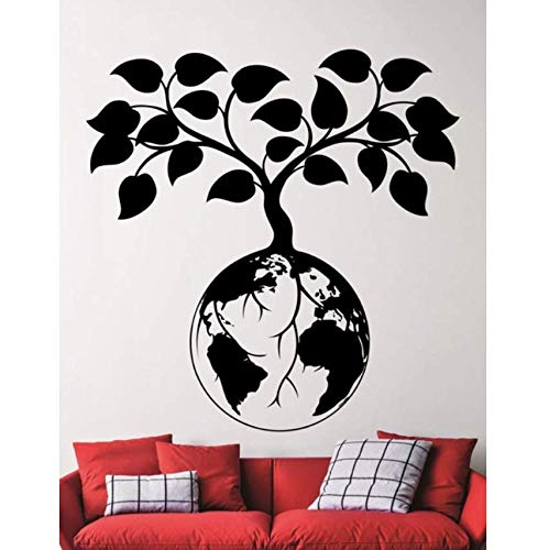pbldb Earth Protect Designed Wall Stickers Special Meaning Plant Growing On Earth Art Wall Decals for Home Special Decor Mural60X60 cm -