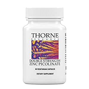 Thorne Research - Double Strength Zinc Picolinate - Well-Absorbed Zinc Supplement for Growth and Immune Function - NSF Certified for Sport - 60 Capsules