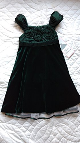 Rare Editions Green Velvet Flower Girl Pageant Holiday Ch...