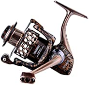 KISSC'S New Aluminum Bodied 1000 Series Spinning Reel. with 17+1 Ball Bearings, 15LBS of Drag and A 5.1:1