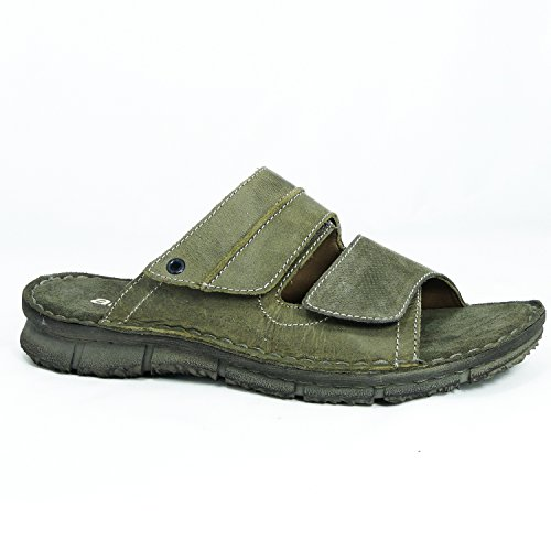 Ara Shoes Ara Herren Pantolette Crazy Horse oliv