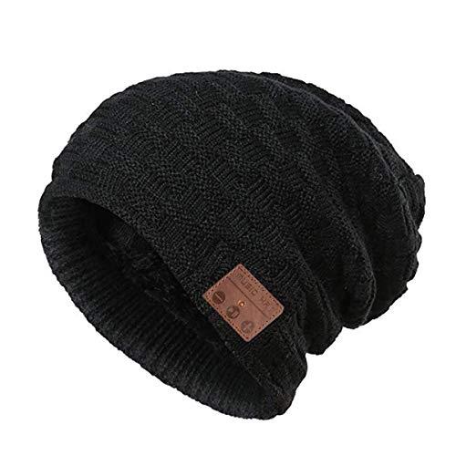 4d82ed6ba2e42 Muscleboon Upgraded Unisex Knit Bluetooth Beanie Hat Headpho