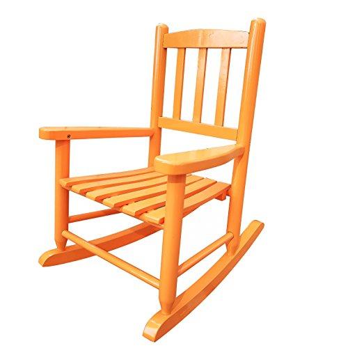 (Rockingrocker - K031OG Orange Child's Rocking Chair/porch Rocker - Indoor or Outdoor - Suitable For 1-4 Years Old)