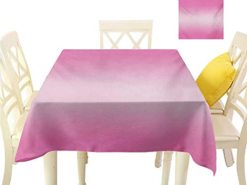 familytaste Tablecloth Ombre,Appetizing Pink Candy Sweets Inspired Food Themed Vivid Colored Digital Modern Art Print,Pink Great for Buffet Table W 50