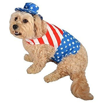 Target Patriot Red, White and Blue Pet Costume, Coat and Hat (XS)