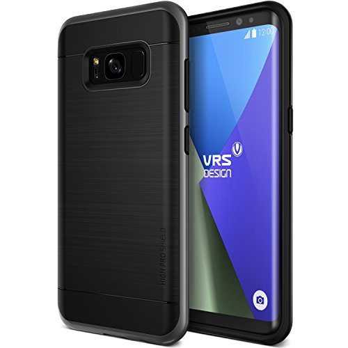 VRS DESIGN Galaxy S8 Case, Dual Layer Protective Phone Case [Dark Silver] Premium Shockproof TPU Silicon Heavy Duty PC Bumper Cover for Samsung Galaxy S8 [High Pro Shield]