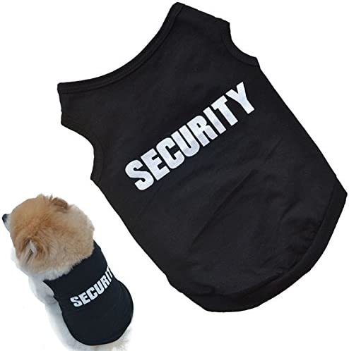 OutTop Cute Pets Small-Sized Dogs T-Shirt Vest Mr. Security Guard
