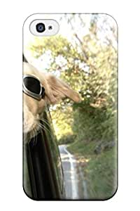 High Impact Dirt/shock Proof Case Cover For Iphone 4/4s (funny Dog Sitting In Car)