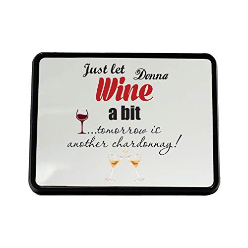 Style In Print Personalized Custom Text Just Let Wine A Bit Plastic Truck Hitch Cover