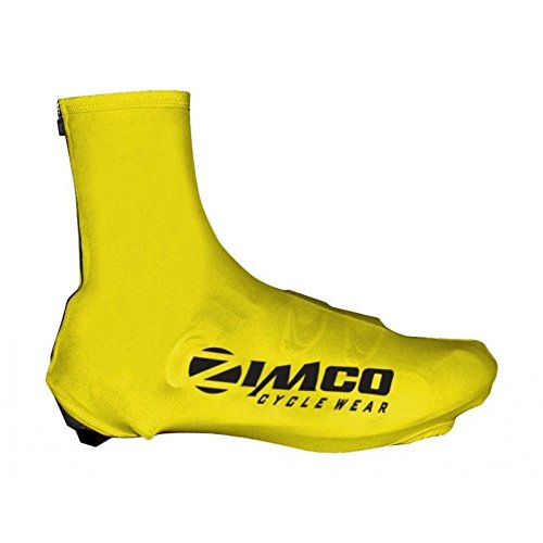 Zimco Lycra Cycling Bicycle Shoe Cover Booties Overshoes with Rear Zipper Yellow (Medium) ()