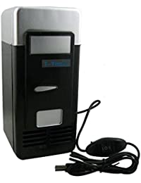 SL&BX Mini Usb Refrigerator,Small Refrigerator Computer Fridge Car Refrigerator Usb Mini Refrigerator Cooling Hot Box Mini Compact Refrigerator