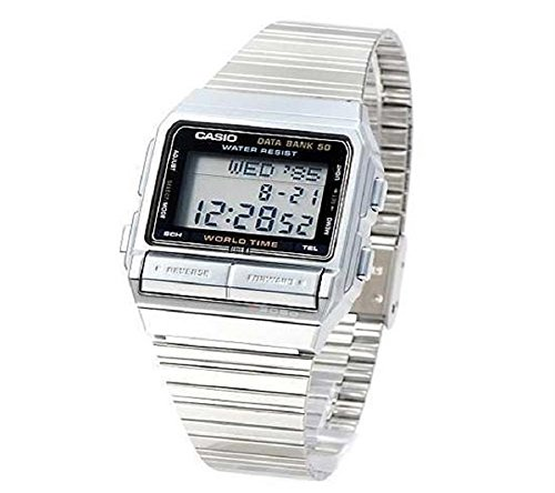 Casio Men's Digital Data Bank Stainless Watch DB520A-1