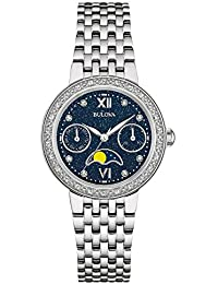 Womens Quartz Stainless Steel Dress Watch, Color:Silver-Toned (Model: 96R210