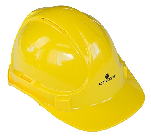 Active Kyds Adjustable Yellow Hard Hat for Kids Construction Costume (Medium)