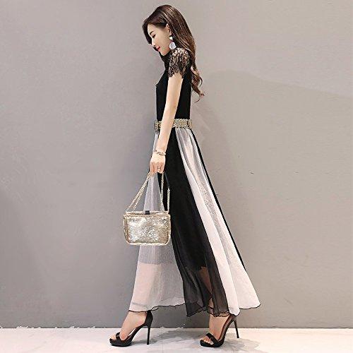 MiGMV?Robes Longues avec de Longues Robes et Jupes Longues,2XL,White
