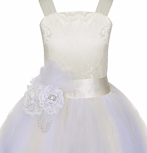 Amazon.com: TiaoBug Girls Crossed Back Lace Dress Flower Girl Dresses Kids Wedding Party Prom Pageant Ball Gown: Clothing