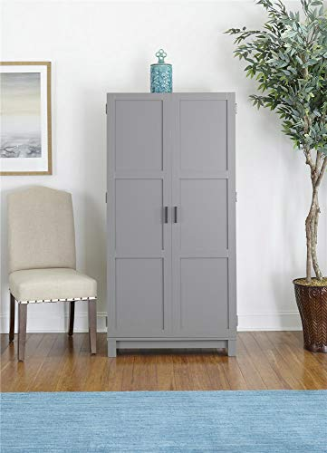 "Ameriwood Home Carver 64"" Storage Cabinet, Gray"