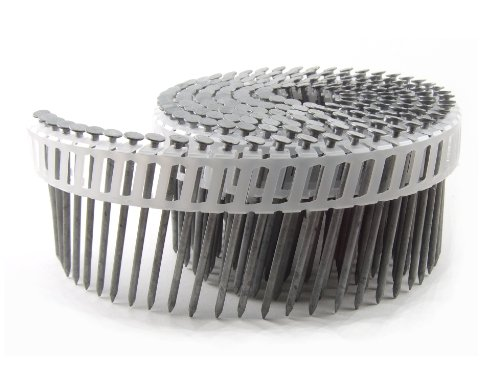 Shank 15 Degree Coil Framing (B&C Eagle A212X092HDPC Round Head 2-1/2-Inch x .092 x 15 Degree Hot Dip Galvanized Smooth Shank Plastic Collated Coil Framing Nails (800 per box))