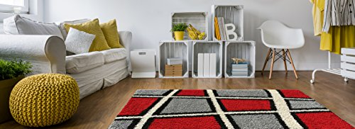 red and black area rugs - 8