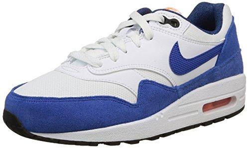 Nike Air Max 1 (Gs) -  para hombre Varios Colores - Mehrfarbig (White/Game Royal-Total Orange-Black)
