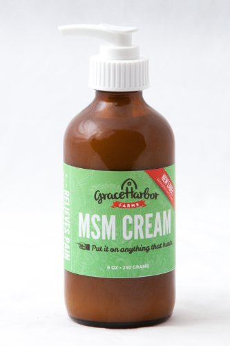 Grace Harbor Farms 8 Ounce MSM Cream, Buy Two Get One Free
