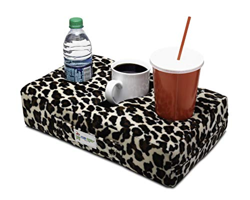 Cup Cozy Pillow (Cheetah As Seen on TV -The World's Best Cup Holder! Keep Your Drinks Close and Prevent Spills. Use it Anywhere-Couch, Floor, Bed, Man cave, car, RV, Park, Beach and More! (Cheetah Print House Phone)